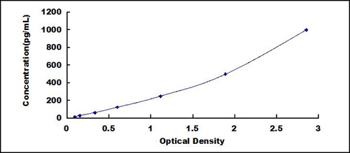 Typical Testing Data/Standard Curve (for reference only) IL18.