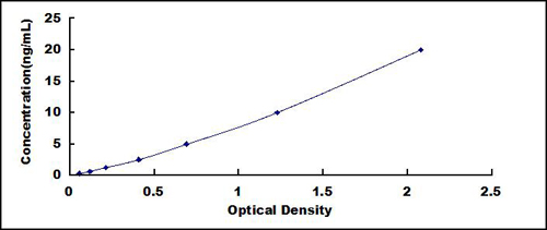 Typical Testing Data/Standard Curve (for reference only) SIRT6.