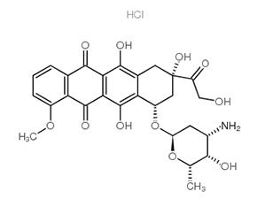 Structure Adriamycin.