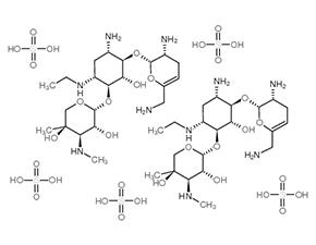 Structure Netilmicin sulfate.