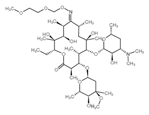 Structure Roxithromycin.