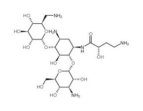 Structure Amikacin.