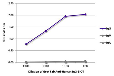 Goat F(ab) Anti-Human IgG (gamma chain specific) secondary antibody ELISA image