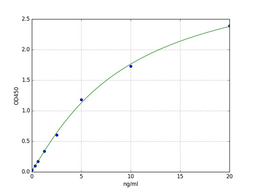 Typical Standard Curve ITGAM.