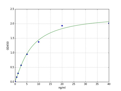 Typical Standard Curve HSPG2.
