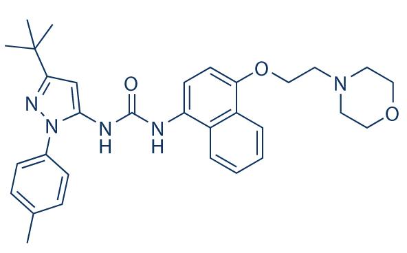 Doramapimod small molecule on mtor inhibitor, protein kinase inhibitor, pi 3 kinase inhibitor, tyrosine kinase inhibitor, jak kinase inhibitor,