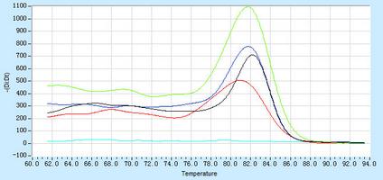 Dissociation Curve hsa-mir-10b Real-Time RT-PCR.