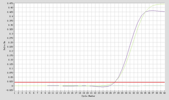 Amplication #2 hsa-mir-205 Real-time RT-PCR.