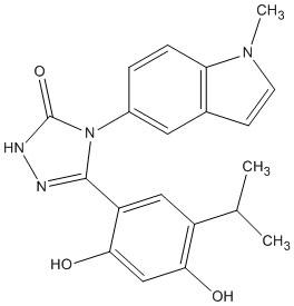 Structure Ganetespib.